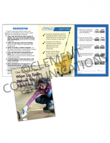 Housekeeping – Use Common Sense Safety Pocket Guide with Quiz Card