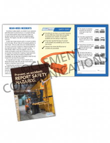 Near Miss - Prevent an Accident - Safety Pocket Guide with Quiz Card