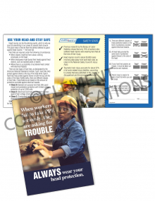 PPE – Head Protection – Safety Pocket Guide with Quiz Card