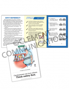 Safety Responsibility - Carelessness - Safety Pocket Guide with Quiz Card