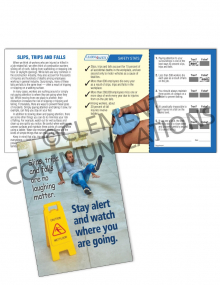 Slips, Trips, Falls - Watch – Safety Pocket Guide with Quiz Card