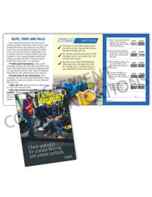 Slips, Trips, Falls - Hidden Hazards - Safety Pocket Guide with Quiz Card