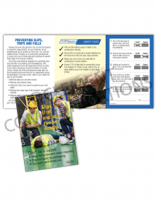 Slips, Trips, Falls - Deadly - Safety Pocket Guide with Quiz Card