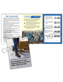Slips, Trips, Falls – Stay On Your Feet Safety Pocket Guide with Quiz Card