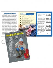 Bloodborne Pathogens – Clean Up – Safety Pocket Guide with Quiz Card