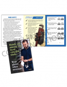 Hand Protection - Gloves Safety Pocket Guide with Quiz Card