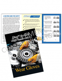 Hand Protection - Gears Safety Pocket Guide with Quiz Card