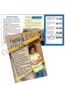 Health - Fatigue – Safety Pocket Guide with Quiz Card