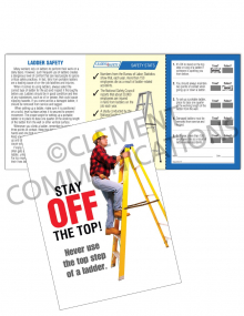 Ladder Safety - Top Step - Safety Pocket Guide with Scratch-Off Quiz Card