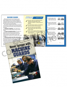 Machine Guards - Don't Tamper - Safety Pocket Guide with Quiz Card