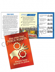Machine Guards - Pinch Points - Safety Pocket Guide with Quiz Card