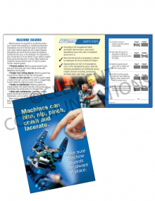 Machine Guards - Machines Bite - Safety Pocket Guide with Quiz Card