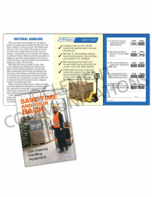 Material Handling – Electric Pallet Jack Safety – Pocket Guide with Quiz Card