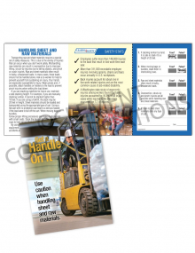 Material Handling – Raw – Safety Pocket Guide with Quiz Card