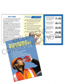 Heat Stress – Signs – Safety Pocket Guide with Quiz Card
