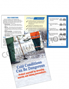 Cold Conditions - Danger - Safety Pocket Guide with Quiz Card