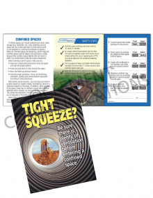 Confined Spaces – Tight Squeeze – Safety Pocket Guide with Scratch-Off Quiz Card