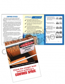 Confined Spaces – Oxygen – Safety Pocket Guide with Quiz Card