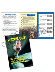 Outdoor Safety - Watch Out - Safety Pocket Guide with Quiz Card