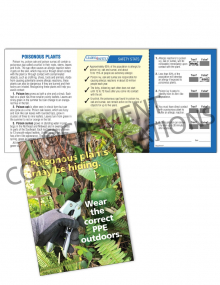 Outdoor Safety - Poisonous Plants - Safety Pocket Guide with Quiz Card