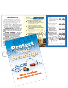 Hearing Protection - Earplugs - Safety Pocket Guide with Scratch-off Quiz Card