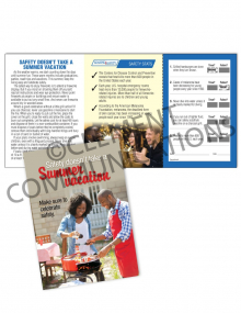 Seasonal Safety – Summer – Safety Pocket Guide with Quiz Card