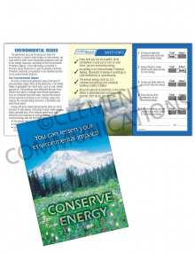 Environmental Safety – Conserve – Safety Pocket Guide with Quiz Card