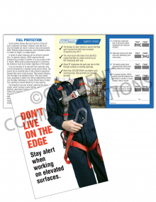 Fall Protection - Harness Safety Pocket Guide with Quiz Card