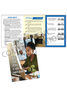 Office Safety - Clean - Safety Pocket Guide with Quiz Card