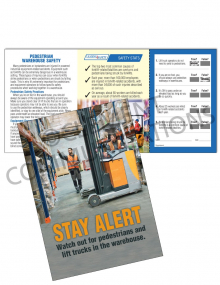 Warehouse Safety - Pedestrians - Safety Pocket Guide with Quiz Card