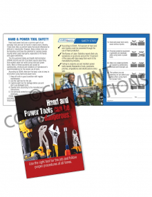 Tool Safety - Dangerous - Safety Pocket Guide with Scratch-off Quiz Card
