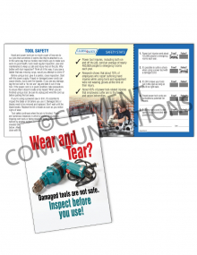 Tool Safety - Wear and Tear - Safety Pocket Guide with Scratch-Off Quiz Card