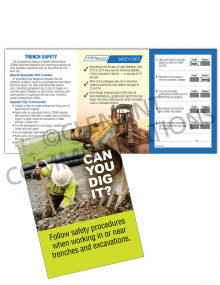 Trenching – Dig It – Safety Pocket Guide with Quiz Card