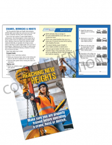 Cranes, Hoists and Derricks – Heights – Safety Pocket Guide with Quiz Card