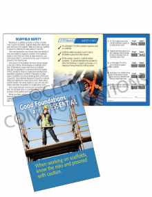 Scaffolding – Foundations – Safety Pocket Guide with Quiz Card