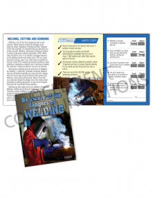 Welding – Dangers of Welding Safety Pocket Guide with Quiz Card