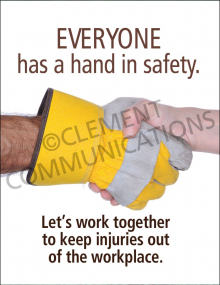 Accident Prevention - Hands - Poster