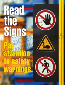 Accident Prevention - Signs - Poster