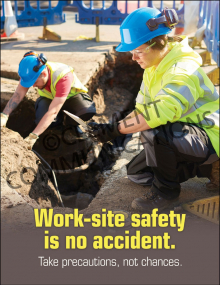 Accident Prevention - Work Site - Poster