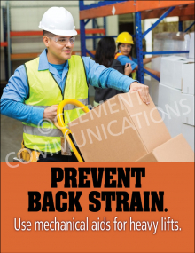 Back Safety – Mechanical Aid – Poster