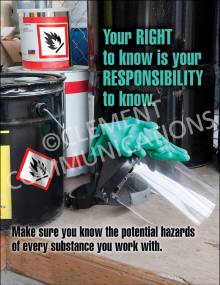 Chemical HazCom – Right To Know – Poster