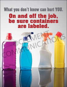 Chemical HazCom – Bottles – Poster