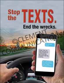Driving Safely – Stop the Texts – Posters