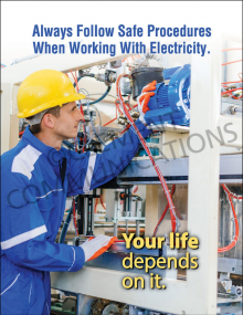 Electrical Safety – Your Life Depends on It – Posters
