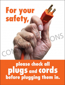 Electrical Safety – Plugs and Cords – Posters