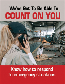 Emergency Preparedness – Count On You –  Posters