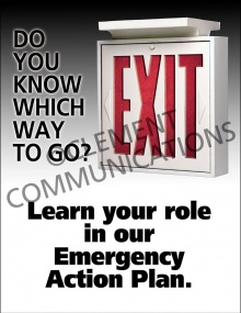 Emergency Preparedness – Learn Your Role –  Posters