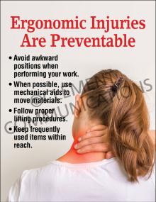 Ergonomics – Injuries – Posters