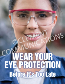 Eye Protection - Safety Goggles Poster