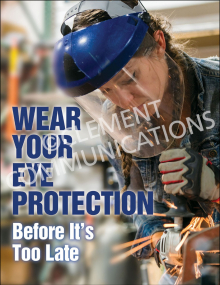 Eye Protection - Face Shield Posters